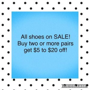 All shoes on sale!